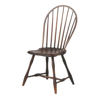 1800s Antique American Bowback Windsor Side Chair
