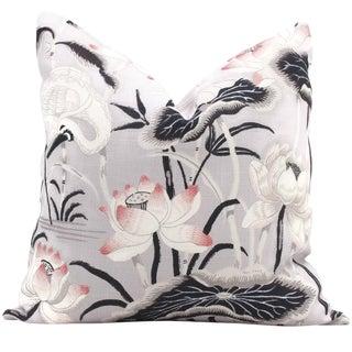 Schumacher Lilac Lotus Garden Decorative Pillow Cover, 20x20