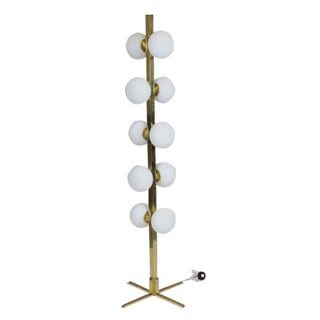 Modern Multi-Globe Brass Floor Lamp