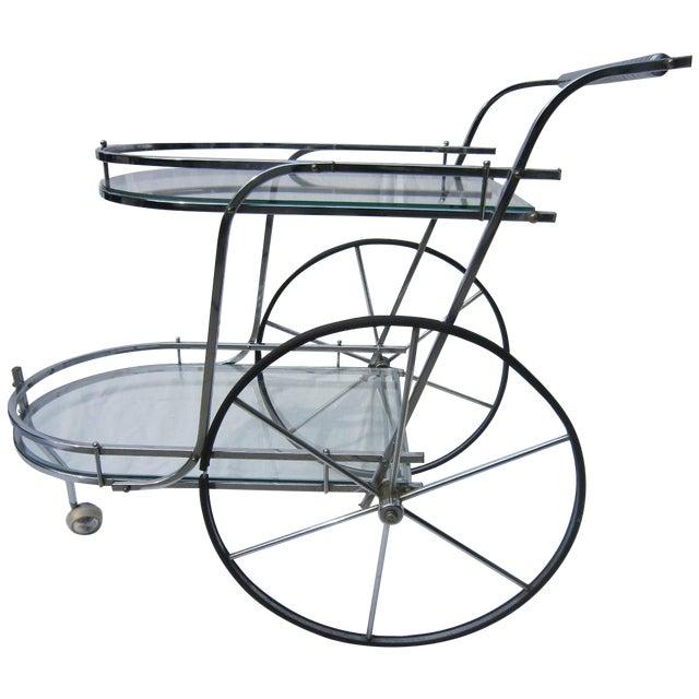 Italian Chrome Bar Cart - Image 1 of 6