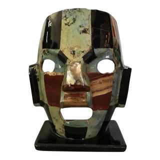 Mother of Pearl Gemstone Mosaic Mask