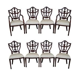 Maitland Smith Mahogany Shield Back Chairs - 8