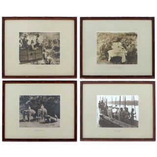 Safari Theme Sepia Photographs- Set of 4
