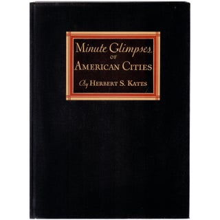 """""""Minute Glimpses of American Cities"""" Vintage 1933 Book"""