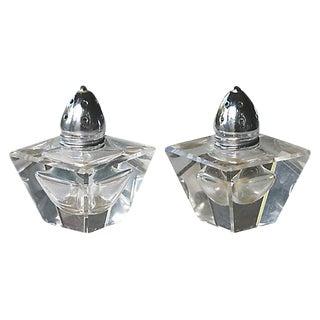 Mid-Century European Glass Salt & Pepper - A Pair