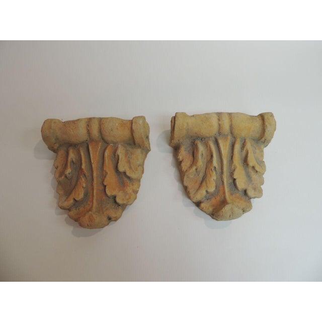 Image of Vintage Cement Garden Brackets - A Pair