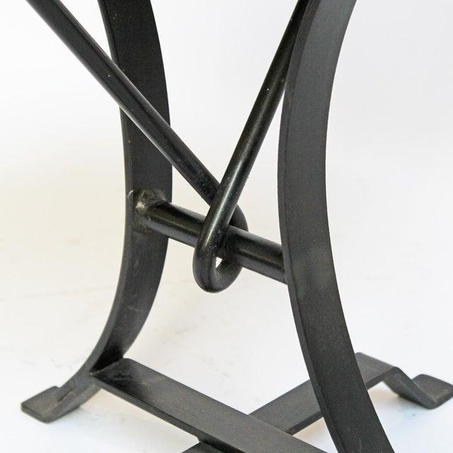 Industrial Iron Twist Stool - Image 4 of 4
