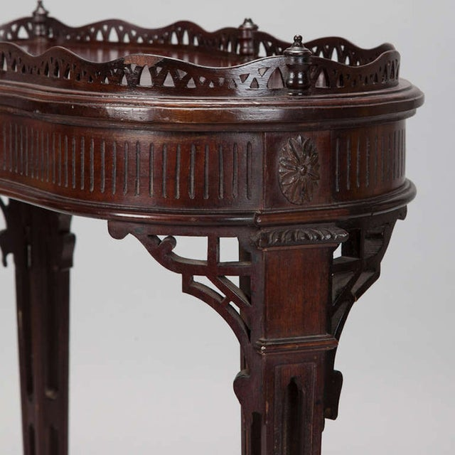 Image of Antique Mahogany Irish Heart-Shaped Side Table