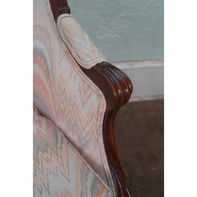 Large 1920s French Louis XV Style Bergere Chair - Image 8 of 10