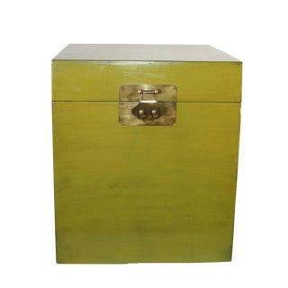 Moss Green Lacquered Storage Box