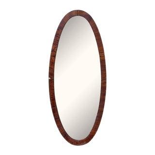 Oval Wood Framed Mirror