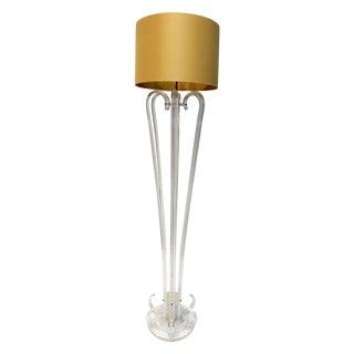 Tall Bent Lucite Floor Lamp