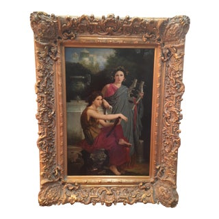 """Vintage """"Two Women"""" Oil Painting"""