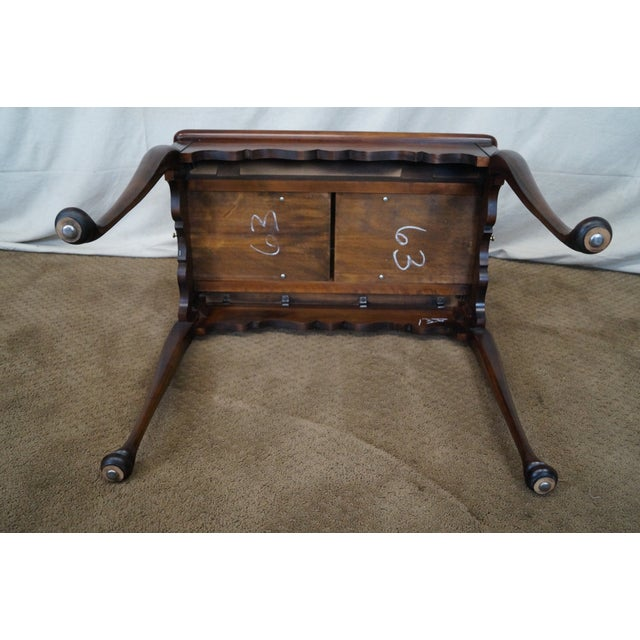 Image of Statton Old Towne Solid Cherry Queen Anne Table