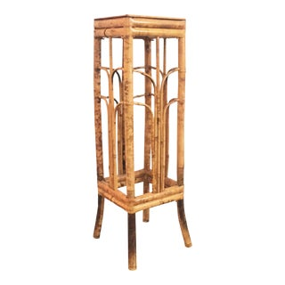 Tall Vintage Bamboo Plant Stand