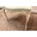 Image of French Louis XV Ladies Open Arm Chairs - A Pair