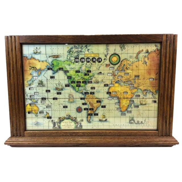 Vintage Howard Miller World Clock - Image 1 of 4