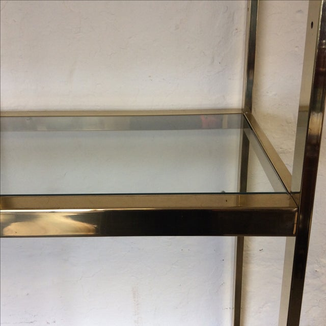 Image of Brass Etagere With Glass Shelves