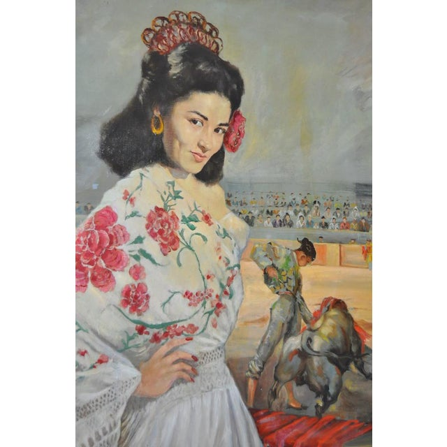 """Matador and the Señorita"" Oil on Canvas - Image 3 of 10"
