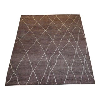 """Brown Moroccan Inspired Rug - 7'4"""" X 10'"""