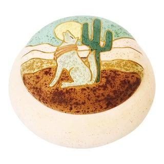 Vintage Southwestern Pink Lidded Bowl