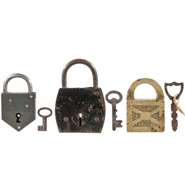 Image of Vintage French Padlocks - Group of 3