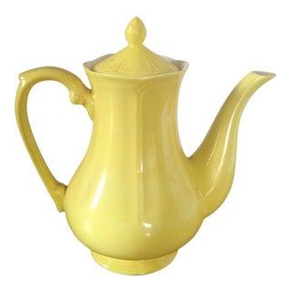 Vintage Yellow Ironstone Teapot