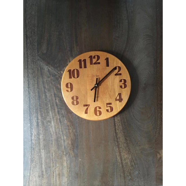 Vintage Mid-Century Modern Linden Wall Clock - Image 3 of 6