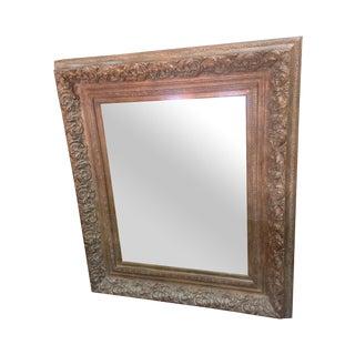 Antique Italian Baroque Style Wood Mirror