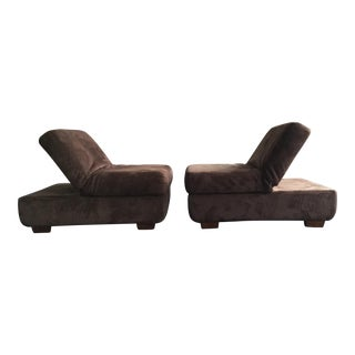 Asian Style Convertible Chair Ottomans - A Pair