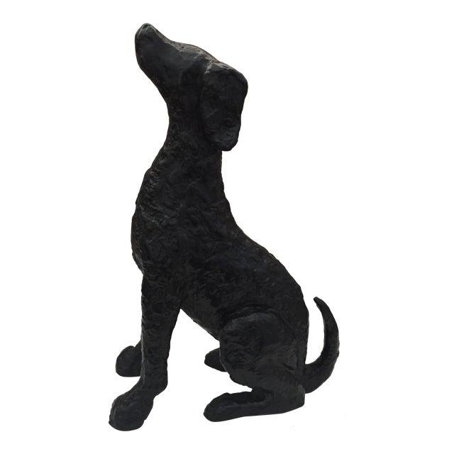 Image of Metal Hound Dog Figurine