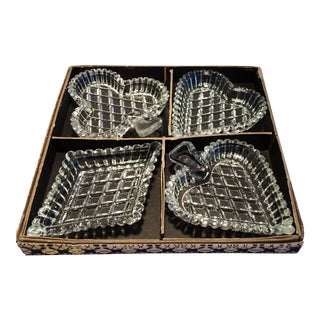Vintage Bridge Crystal Dishes in Original Box - Set of 4