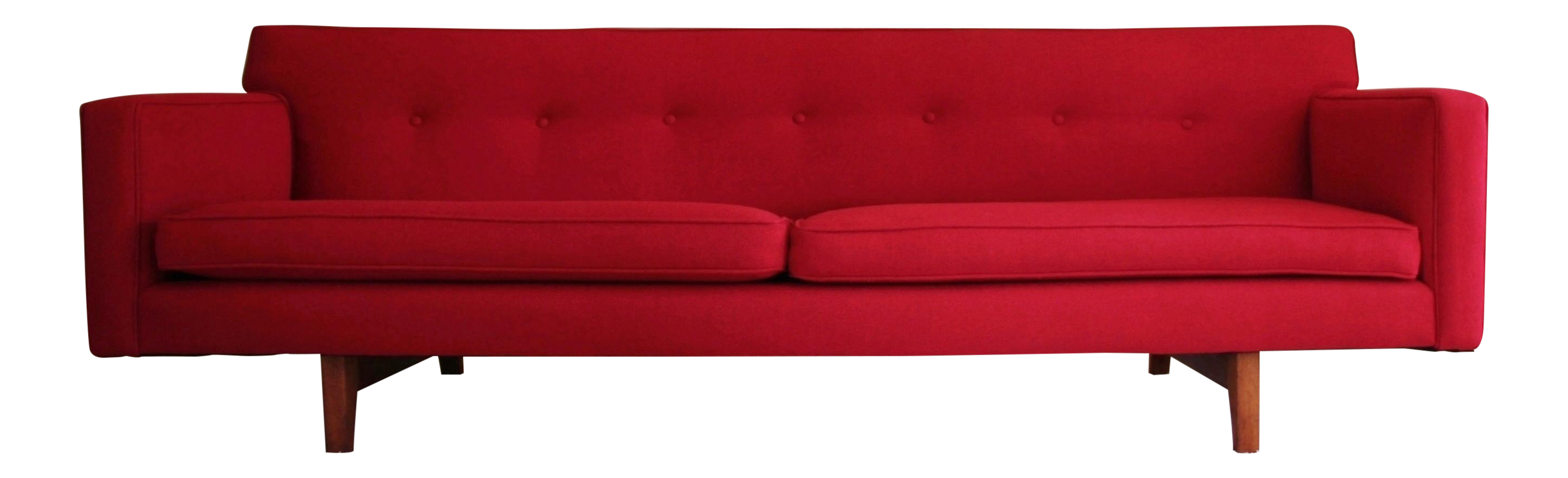 Edward Wormley For Dunbar Mid Century Red Sofa