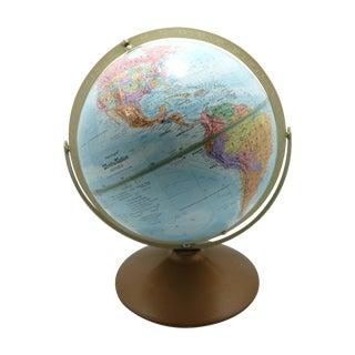 Tilting Globe on Metal Base, World Nation Series