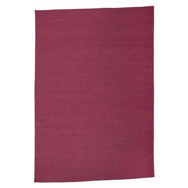 Aelfie Flatwoven Dhhurie Solid Raspberry Rug - 8′ × 10′ - Image 3 of 3