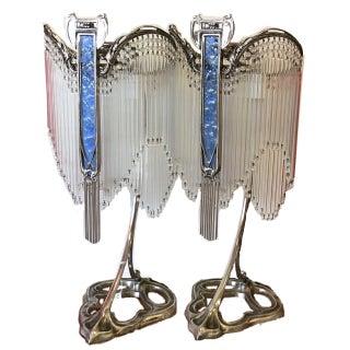 Art Nouveau Lamps After Hector Guimard Lustre Lumière - A Pair