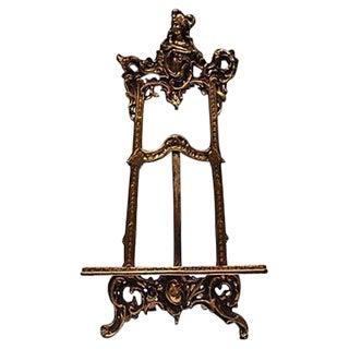 Art Nouveau Cast Brass Easel