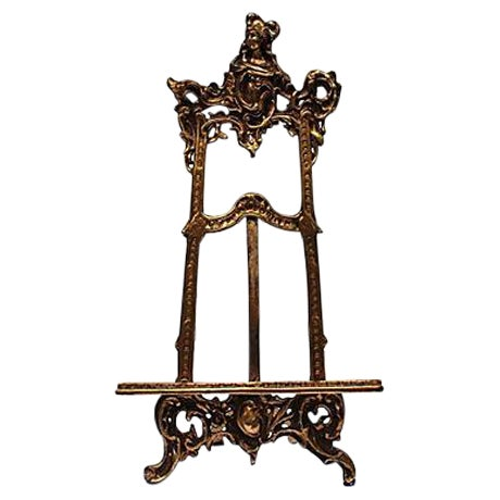 Image of Art Nouveau Cast Brass Easel