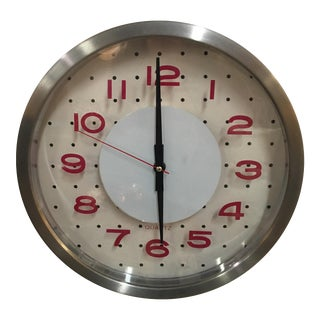 Quartz Red Retro Wall Clock