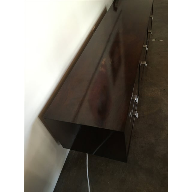 Mid Century Modern Argentine Manner of Jean Michel Frank by Comte Walnut Low Sideboard / Credenza - Image 9 of 10