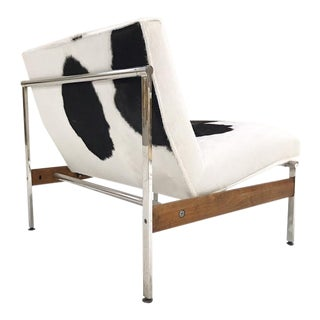 Forsyth One of a Kind Glenn of California Lounge Chair Reupholstered in Brazilian Cowhide