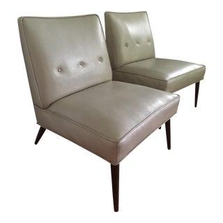 Mid-Century Modern Kroehler Slipper Chairs - A Pair
