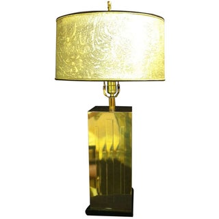 Rectangular Brass Table Lamp