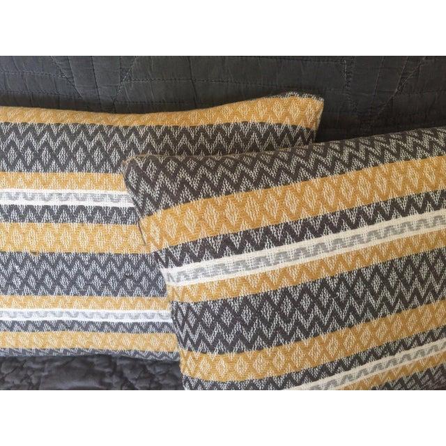 West Elm Silk Jacquard Hand-Woven Pillows - A Pair - Image 4 of 11