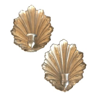 Brass Candle Wall Sconces - A Pair