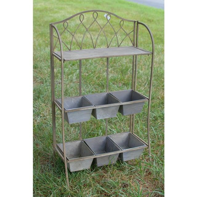 Metal Antique Planter Shelf - Image 2 of 5