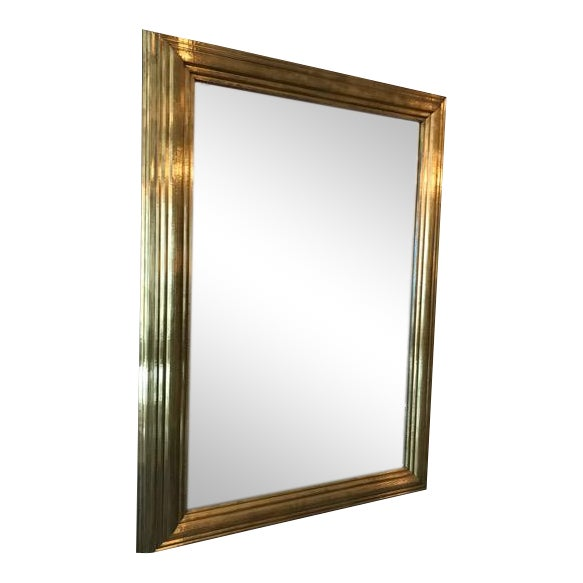 Brass Wrapped Bistro Mirror - Image 1 of 3