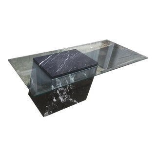 Modern Marble & Glass Coffee Table
