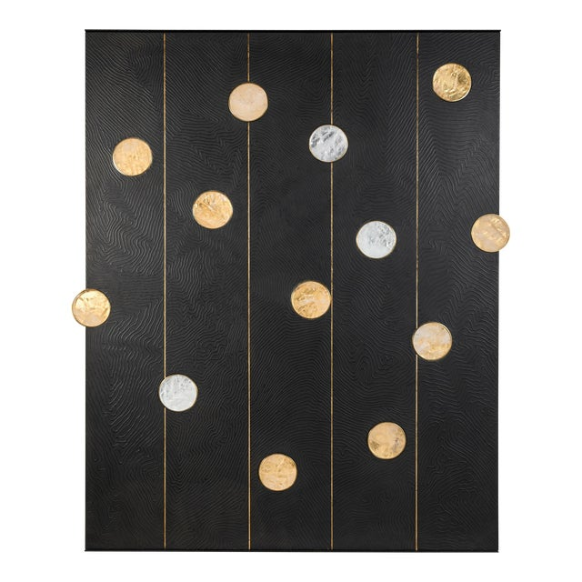 Art Wall Panel with Texture and Rock Crystal by Paul Marra - Image 1 of 11