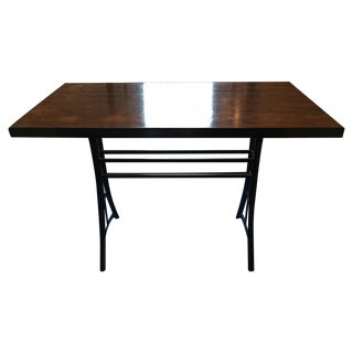 Vintage Industrial Reclaimed Wood and ironTall Dining Table